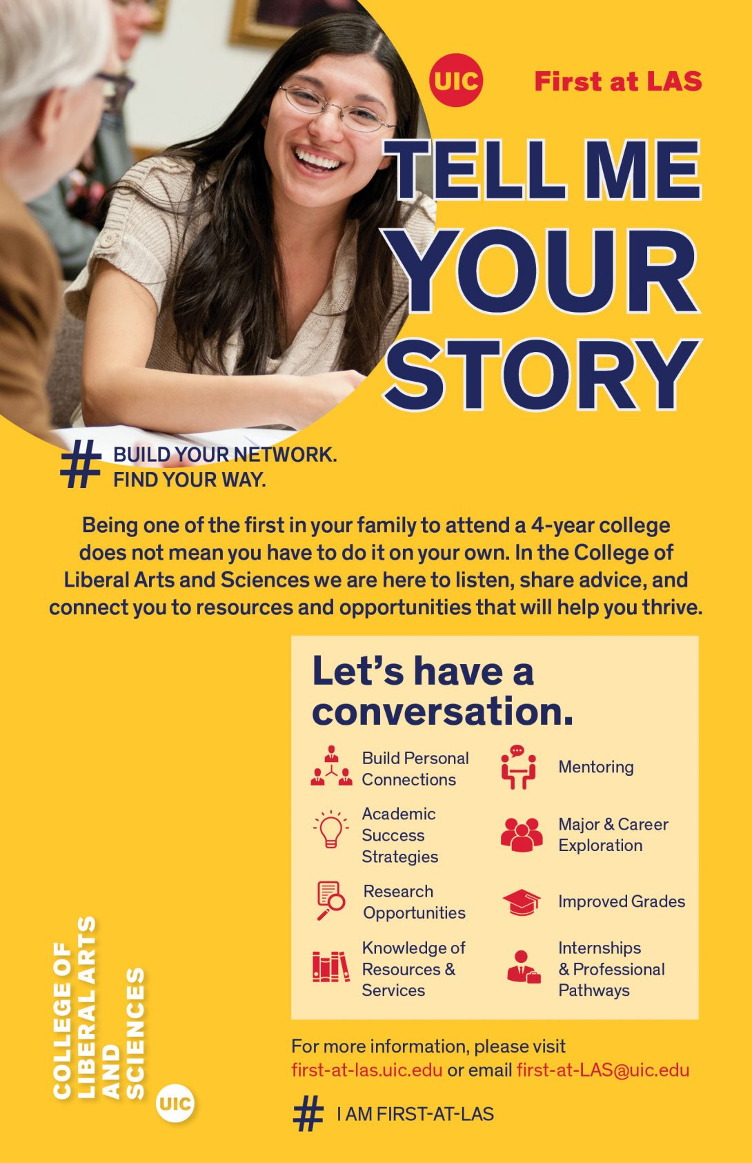 Tell me your story poster - poster text available in the text box